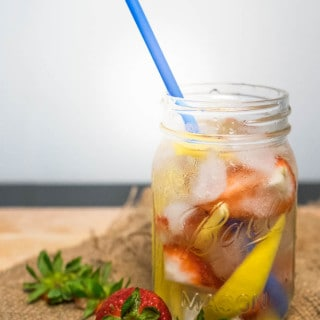 Mango Strawberry Infused Water