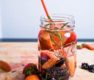 Strawberry, Blackberry and Rosemary Infused Water