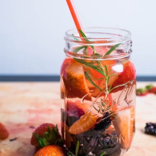 Strawberry Blackberry Rosemary Infused Water