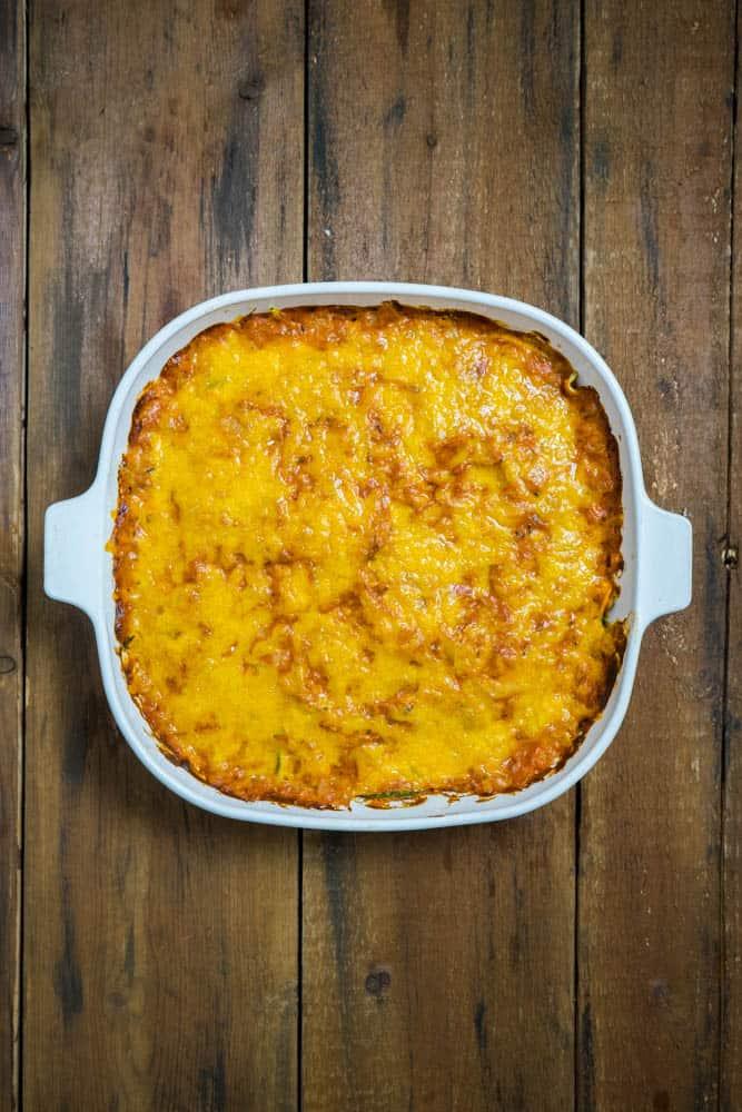 Tuna Tomato Zoodle Bake