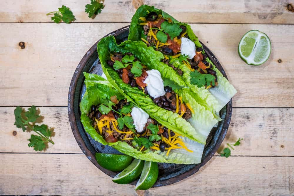 Ground Beef Lettuce Wrap