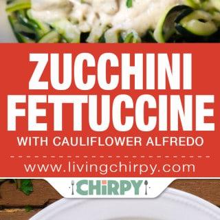 Zucchini Fettuccine with Cauliflower Alfredo