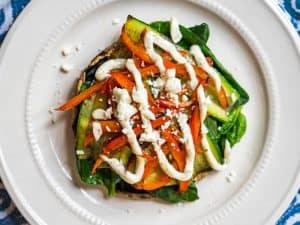 Breakfast Vegetable Stack