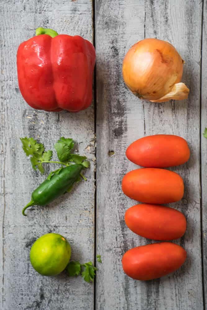 Roasted Summer Salsa Ingredients