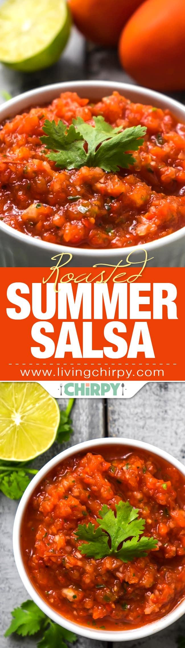 Roasted Summer Salsa Pin