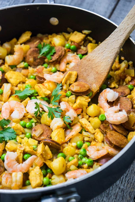 Easy Cauliflower Paella | Living Chirpy