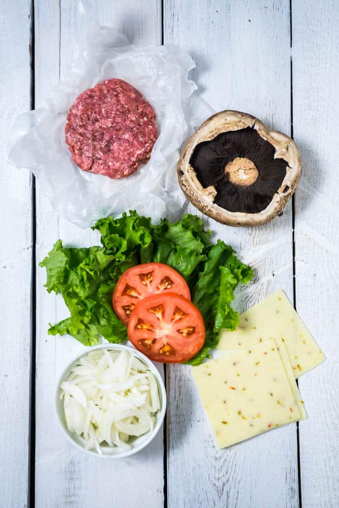 Low Carb Mushroom Burger