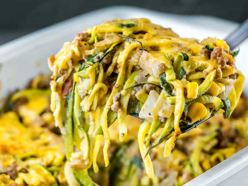 Cheesy Zucchini Bake with Corn and Ground Beef Thumb Image