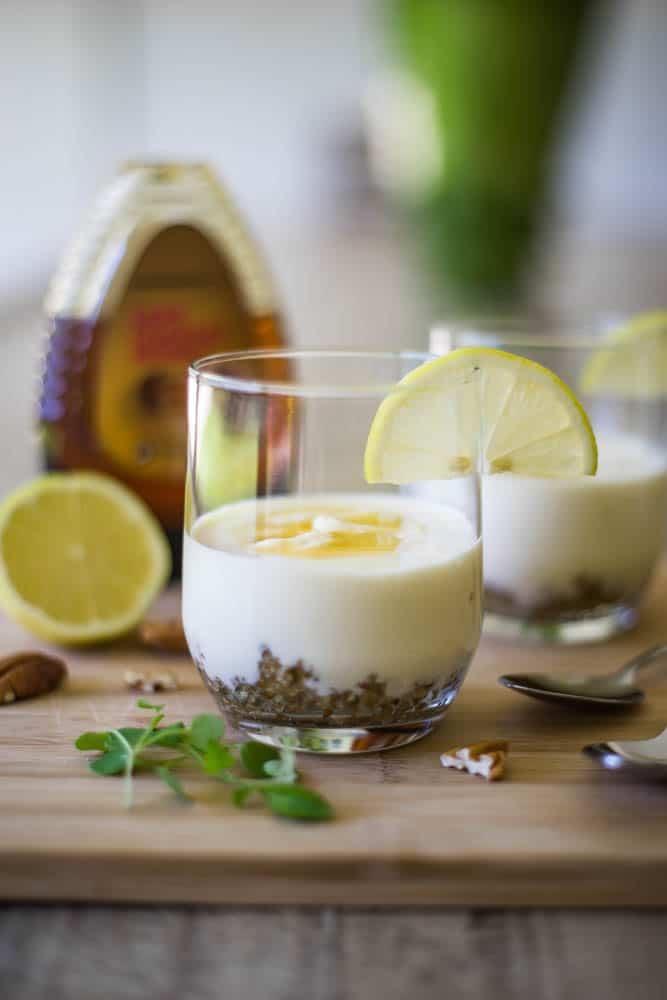 Low carb no bake lemon cheesecake-3