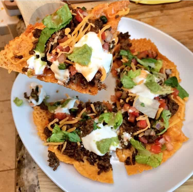 Grain-free Fried Cheddar Mexican Pizza