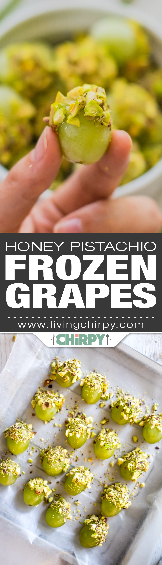 Honey Pistachio Frozen Grapes