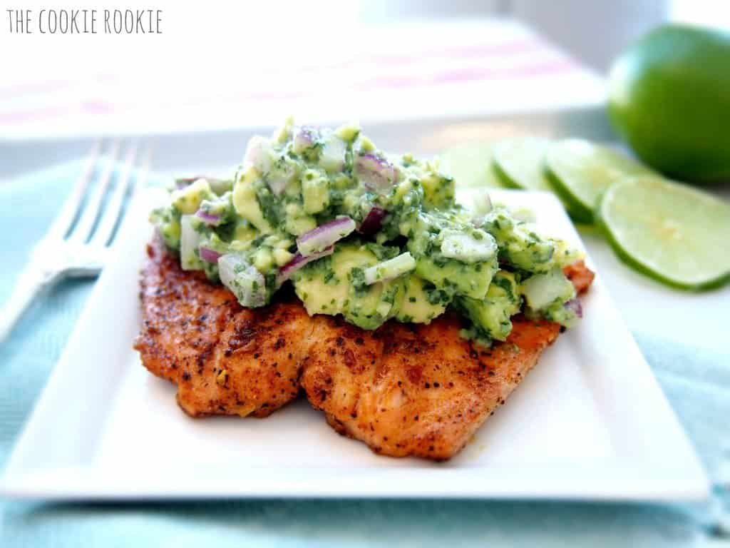 Grilled salmon with avocado salsa living chirpy grilled salmon with avocado salsa forumfinder Images