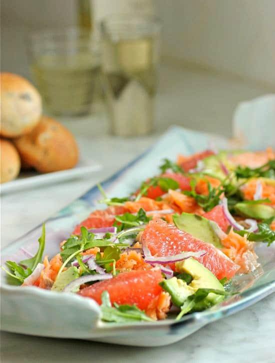 Salmon Grapefruit and Avocado Salad
