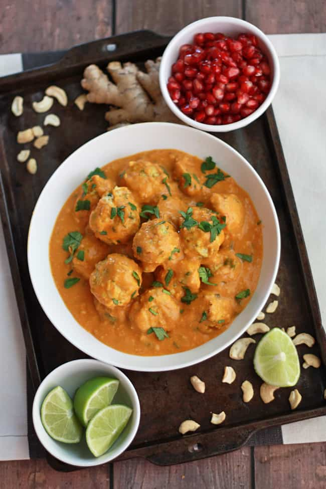 Thai Chicken Curry Meatballs