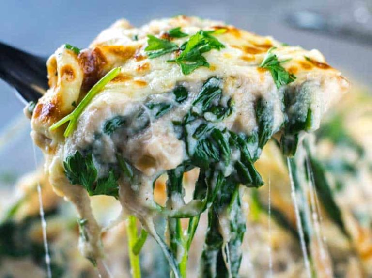 Cauliflower Creamed Spinach