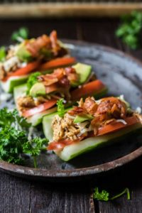 Low-Carb Club Cucumber Sub – Two Ways