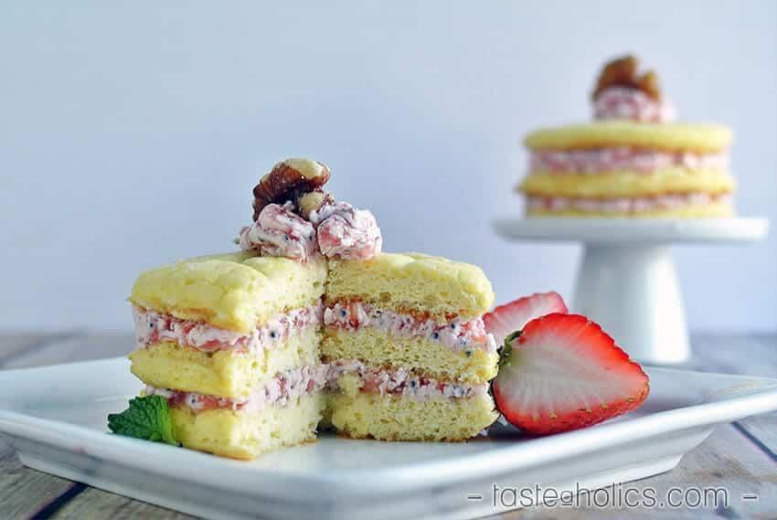 Pink Lemonade Cloud Cakes