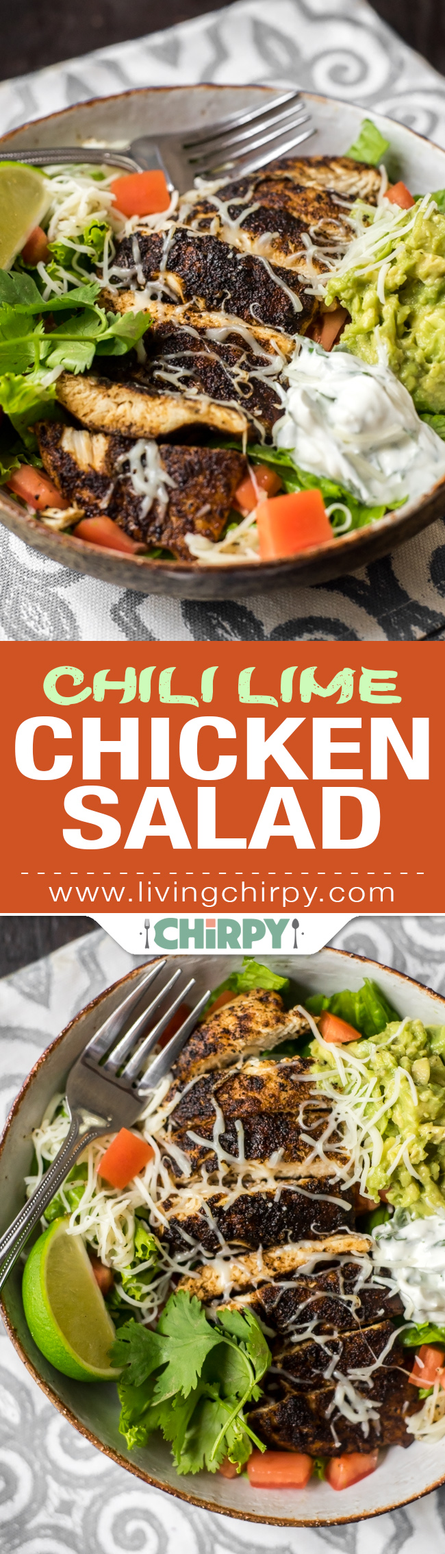 Chili Lime Chicken Salad Pin