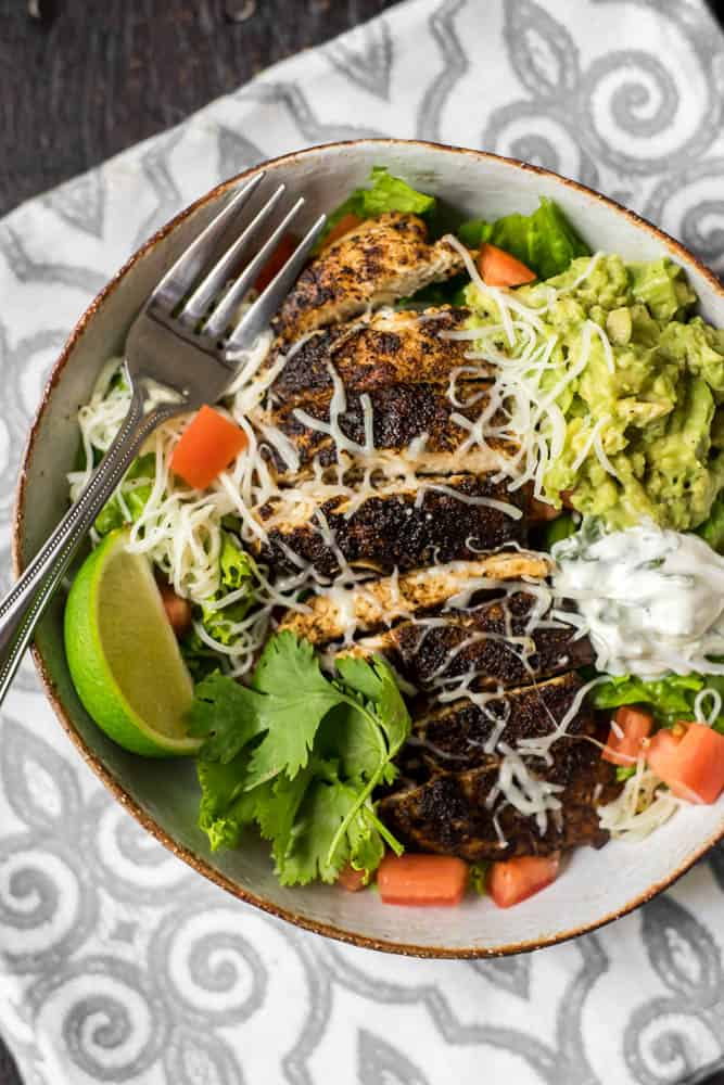 Chili Lime Chicken Salad Plated