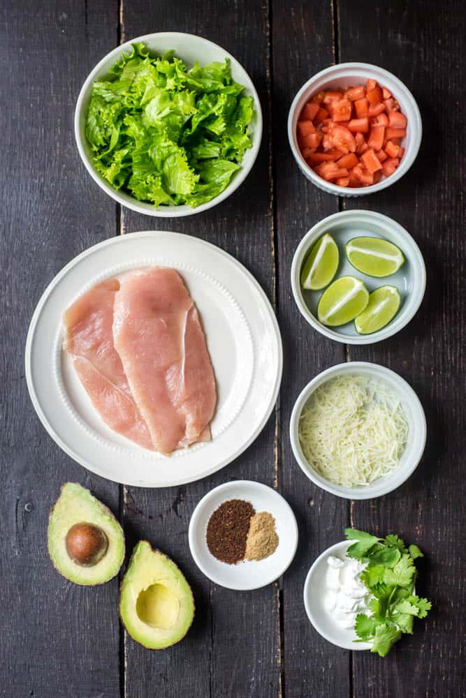 Chili Lime Chicken Salad Ingredients