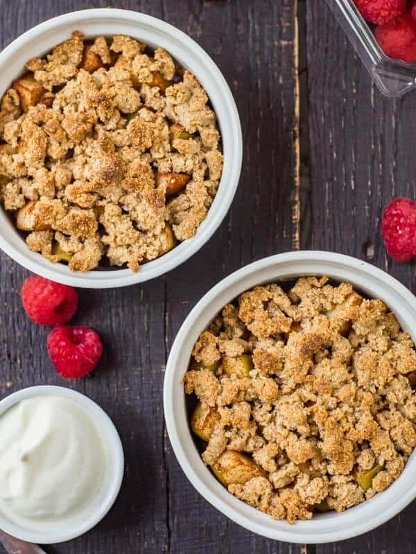 Keto Cinnamon Apple Pie Almond Crumble