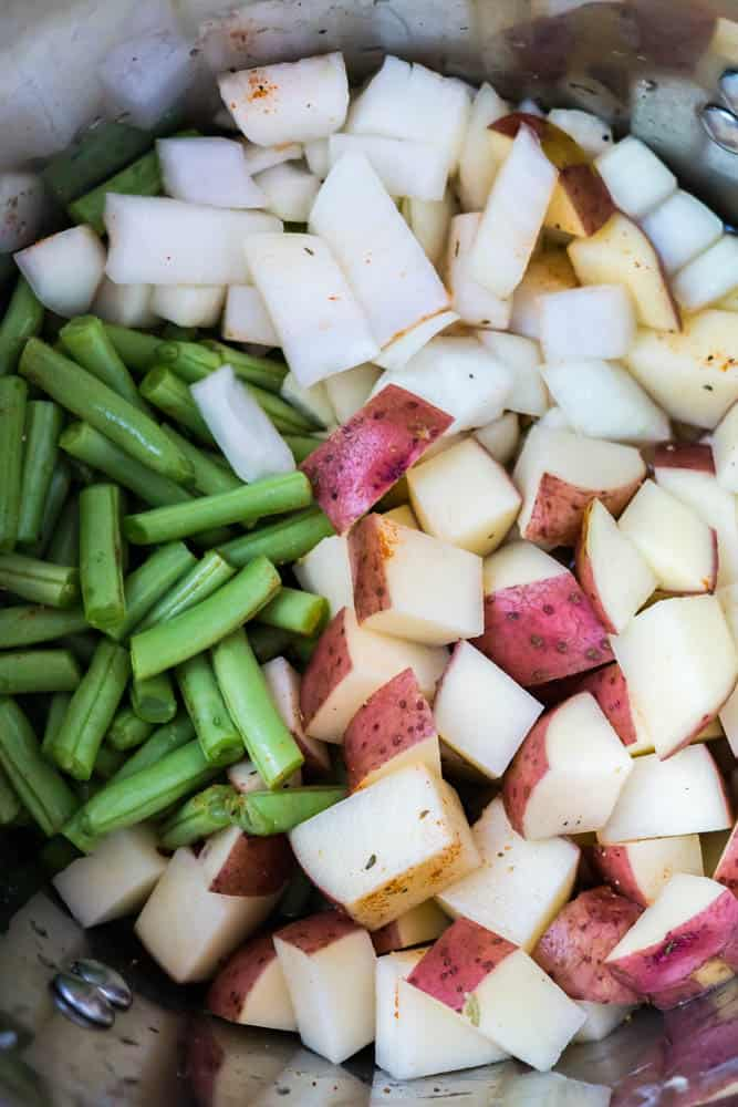 Green Bean Mashed Potatoes
