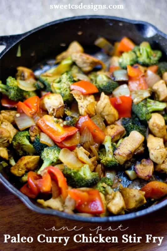 One Pan Paleo Chicken Stirfry