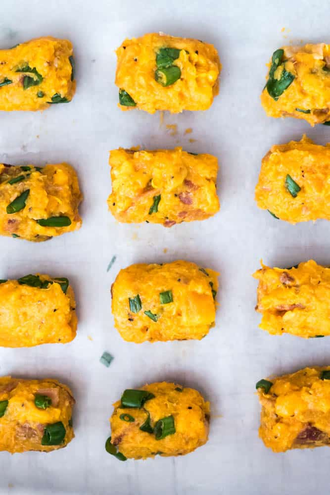 Cheesy Bacon Scallion Sweet Potato Tots-7
