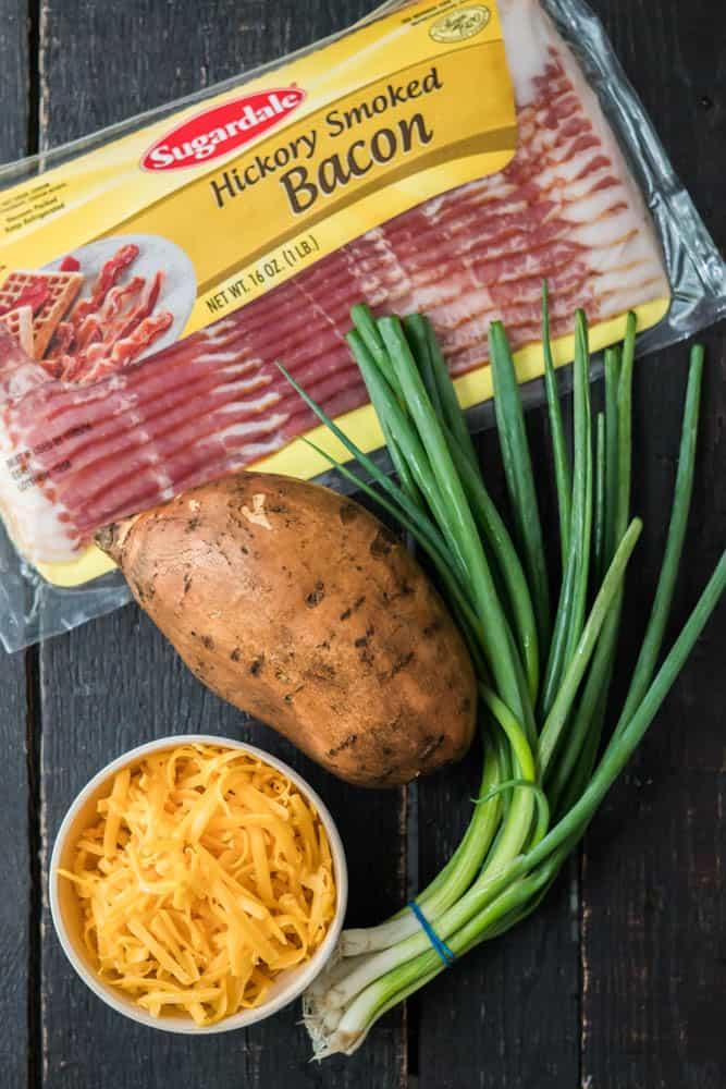 Cheesy Bacon & Scallion Sweet Potato Tots Pin