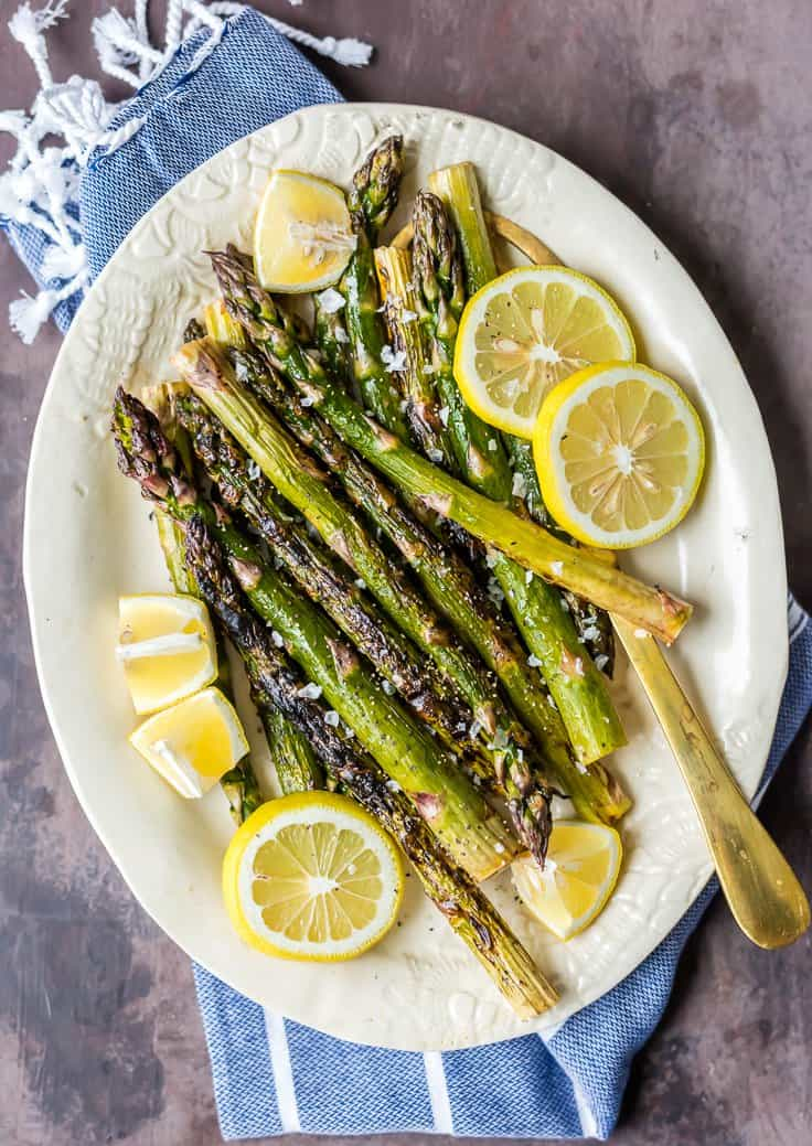 Grilled Lemon Butter Aspargus