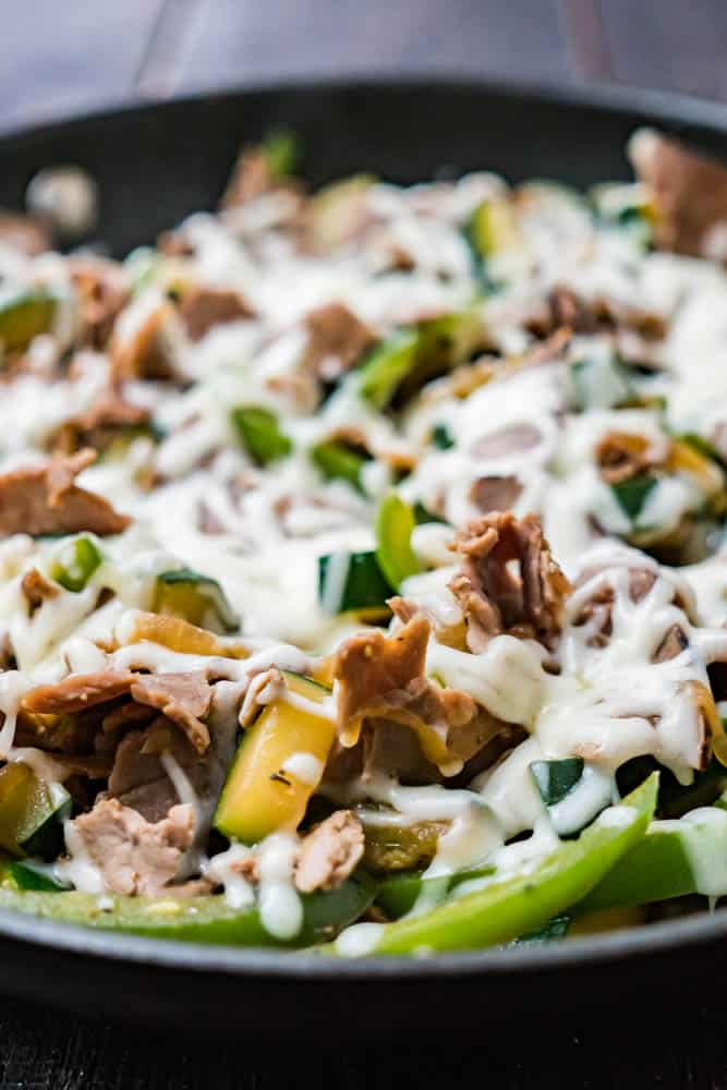 20 Minute Cheesesteak Skillet