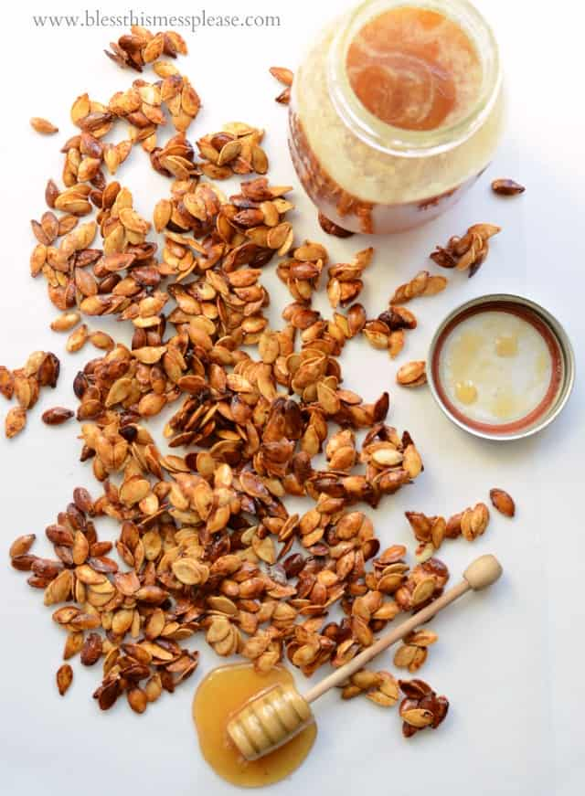 Honey Roasted Pumpkin Seeds with Cinnamon