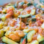 Zucchini with Tomato and Parmesan