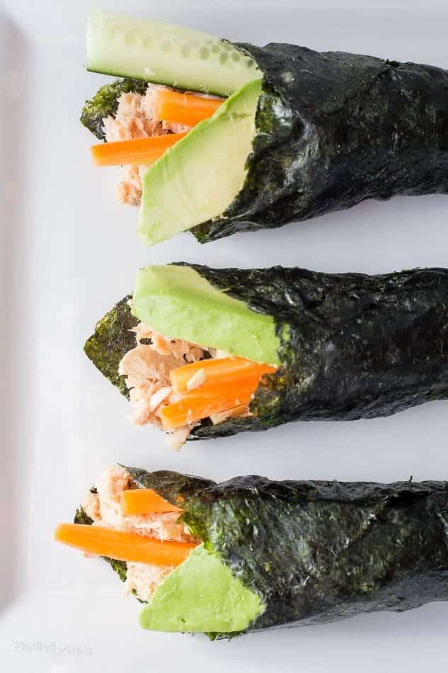 Tuna Salad Nori Wraps