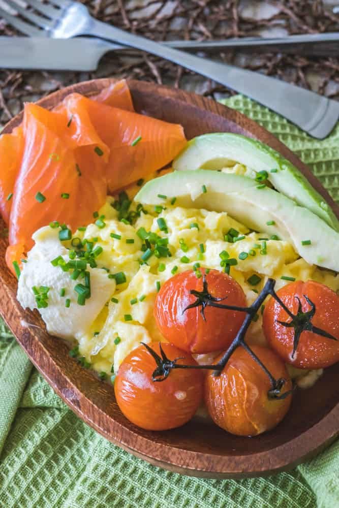 Smoked Salmon Breakfast Bowl | Living Chirpy