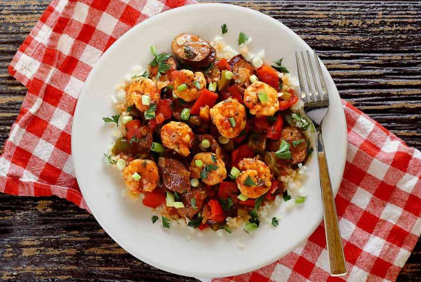 shrimp and sausage cauliflower jambalaya