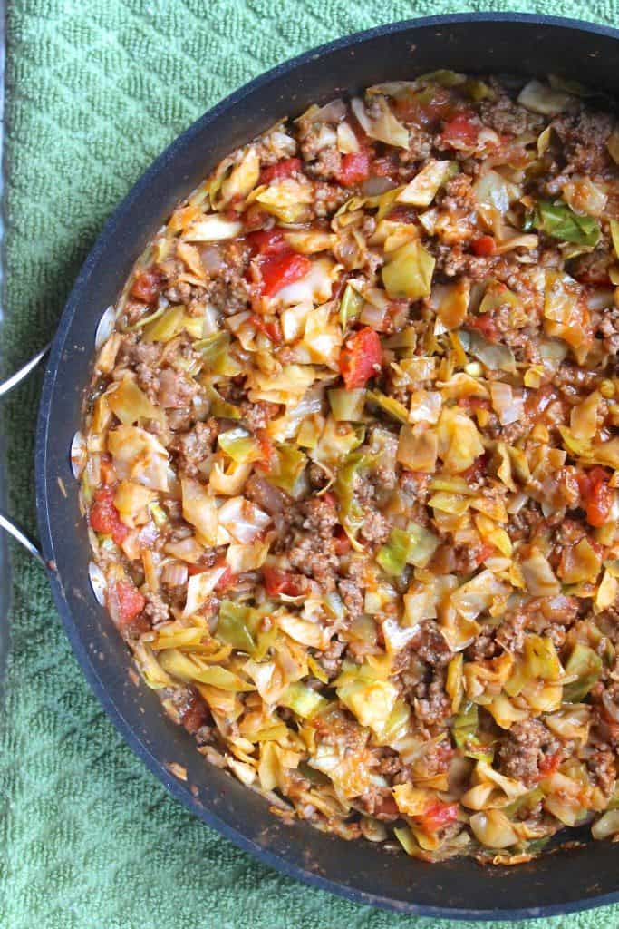 Ground Beef and Cabbage Skillet