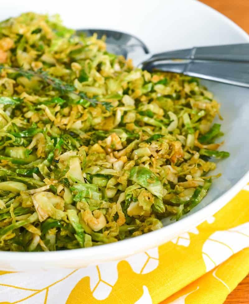 Smoky Lemony Shredded Brussels Sprouts