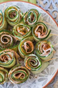 Ham and Mustard Cucumber Rolls
