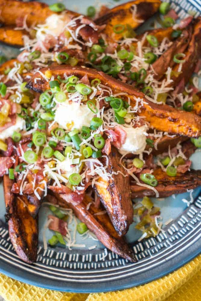Loaded Baked Sweet Potato Wedges