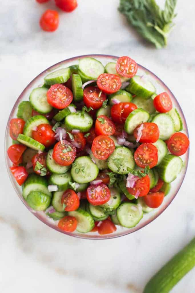 Tomato Cucumber Salad healthy low carb whole 30 paleo gluten free
