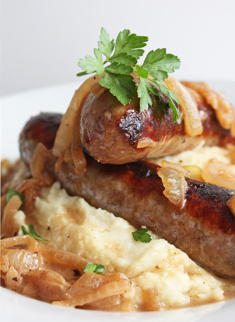 bangers and cauliflower mash healthy low carb whole 30 paleo gluten free