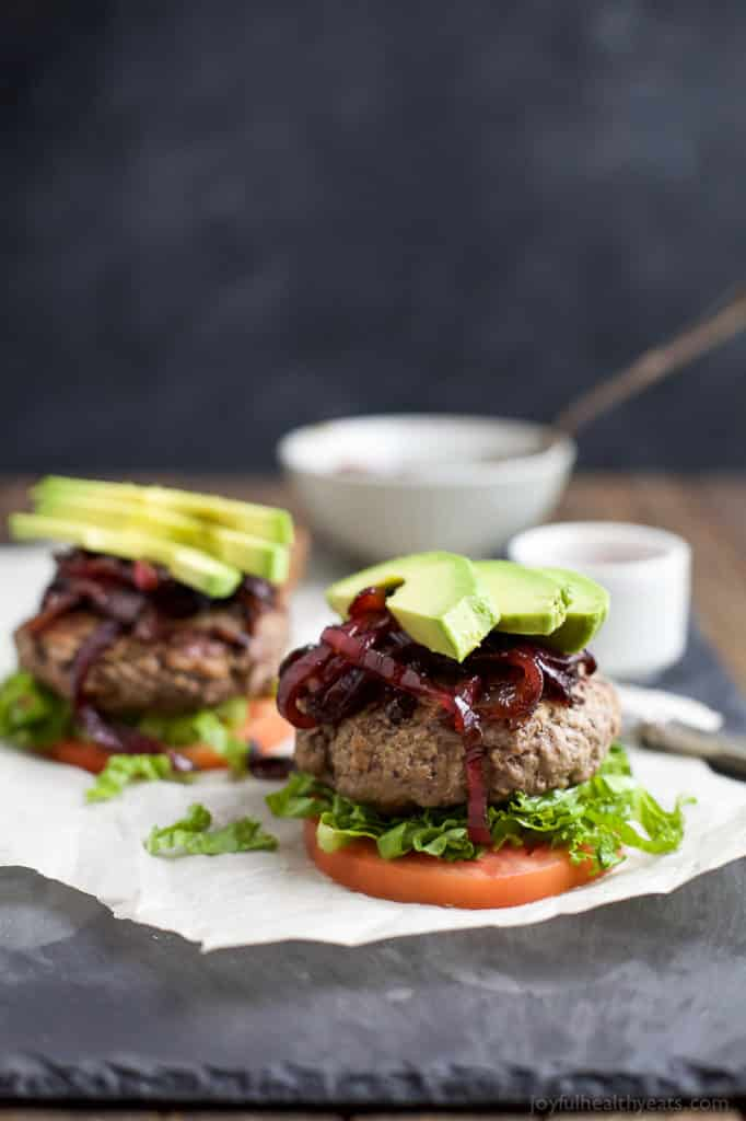 unless burgers with caramelized balsamic onions avocado healthy low carb whole 30 paleo gluten free