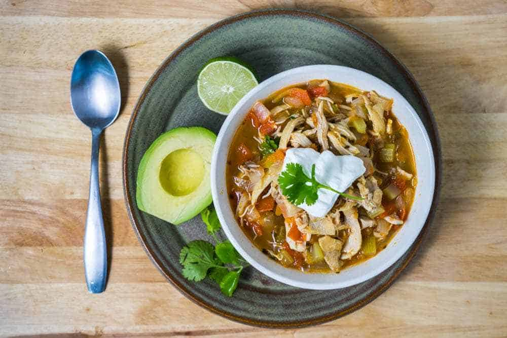 Chicken Taco Soup Healthy Low Carb Whole 30 Paleo Gluten Free