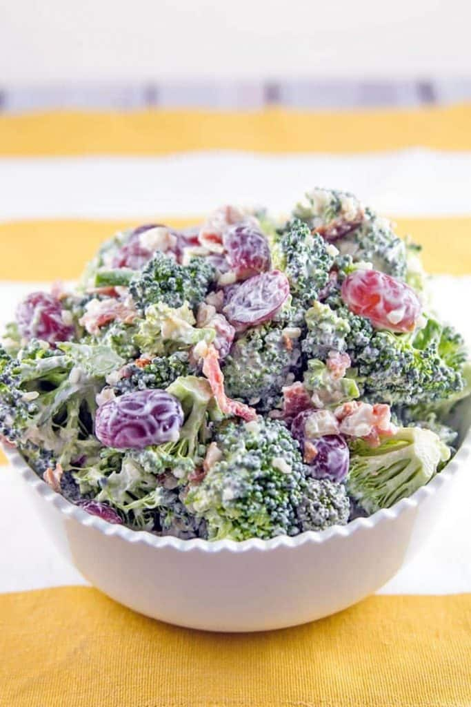 crunchy creamy broccoli salad healthy low carb whole 30 paleo gluten free