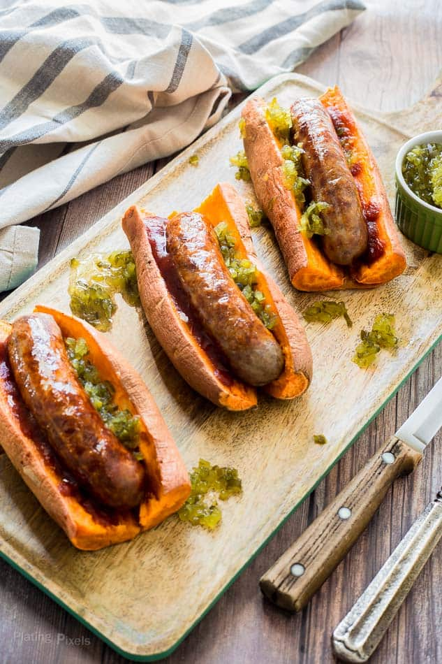 hotdogs in sweet potato buns healthy low carb whole 30 paleo gluten free