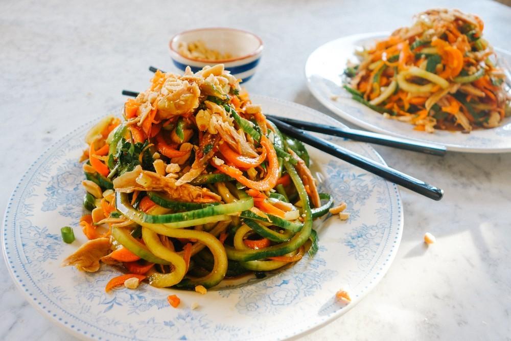 pad thai salad healthy low carb whole 30 paleo gluten free