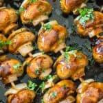 3 Ingredient BBQ Mushroom Skewers