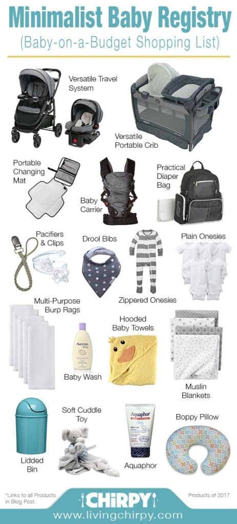 Minimalist Baby Registry (Baby On A Budget) | Living Chirpy