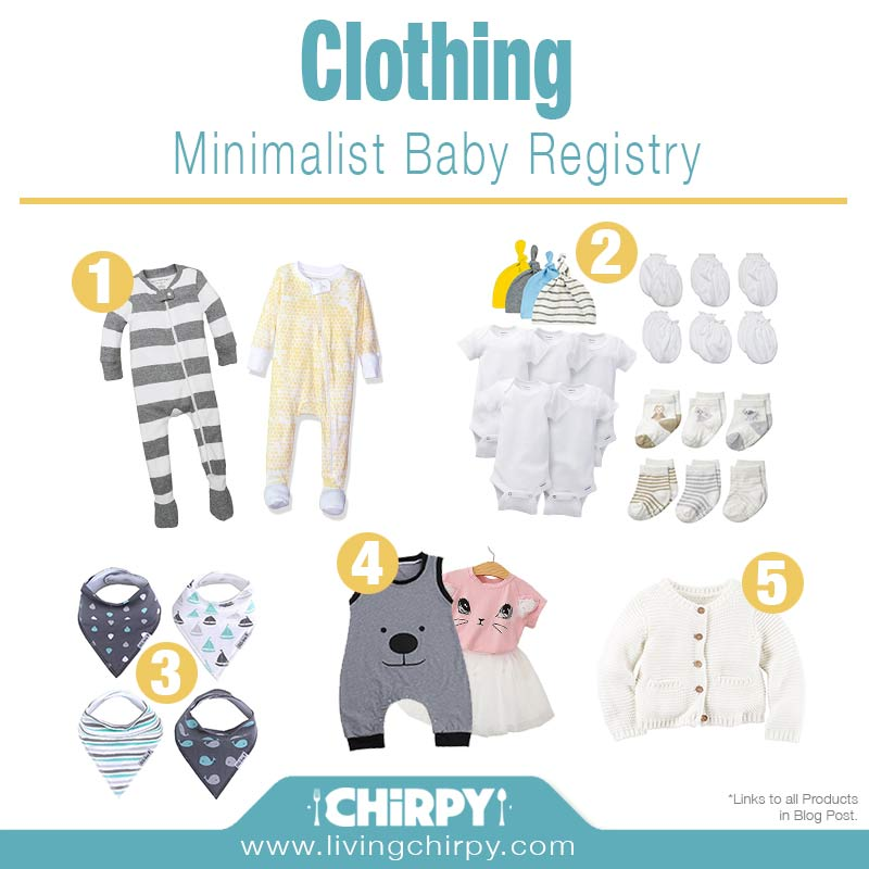 minimalist baby registry baby on a budget living chirpy